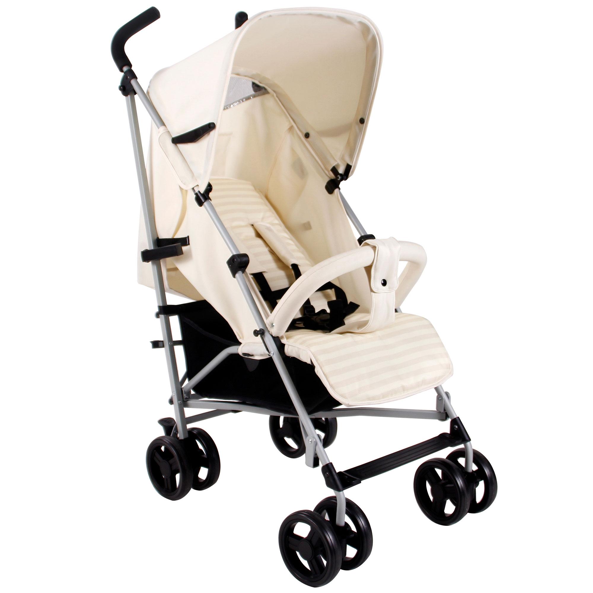 My Babiie Baby Pram Cream Pushchair Parasol Child Stroller