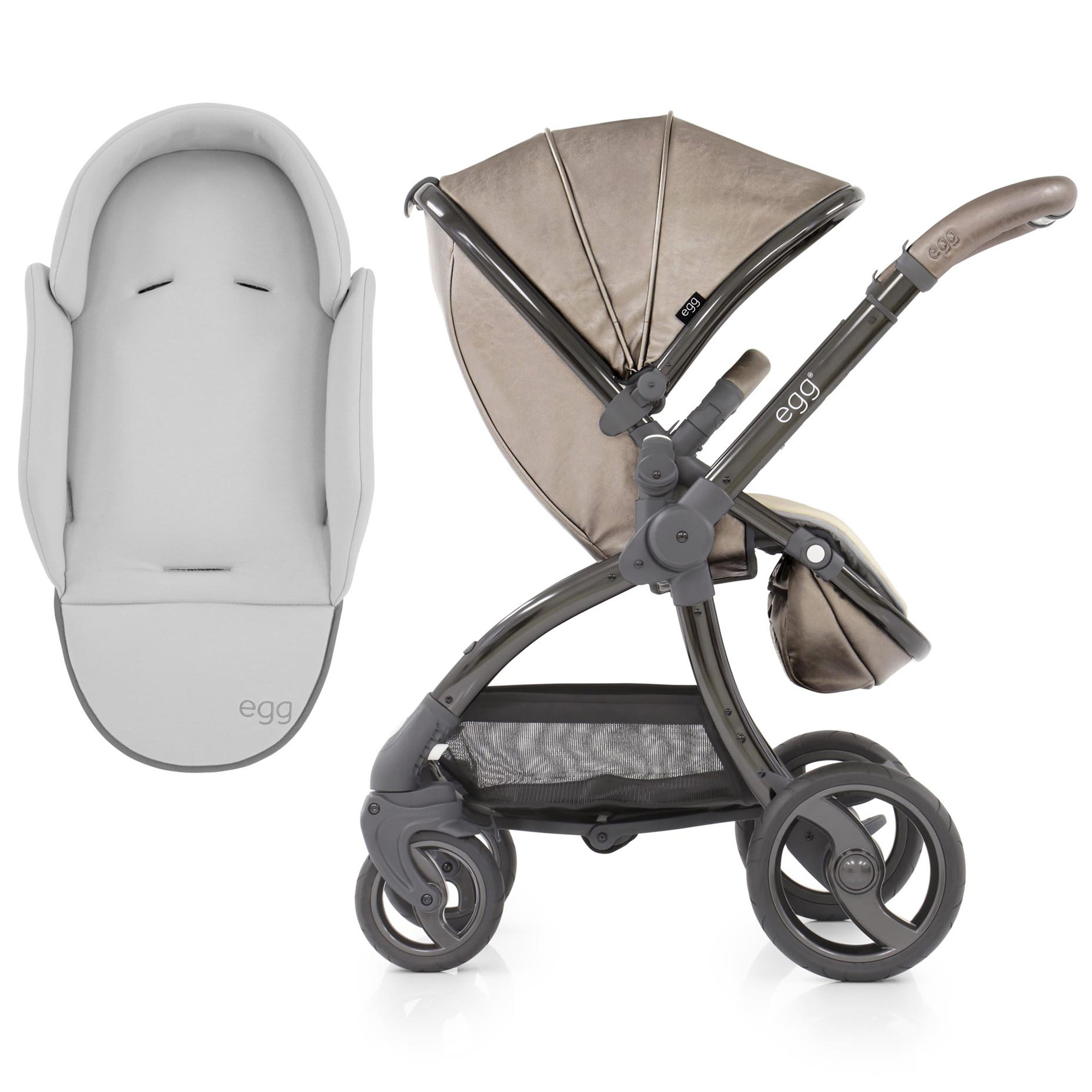 Pewter Grey Egg Footmuff Cosytoes For Egg Stroller Brand New Boxed