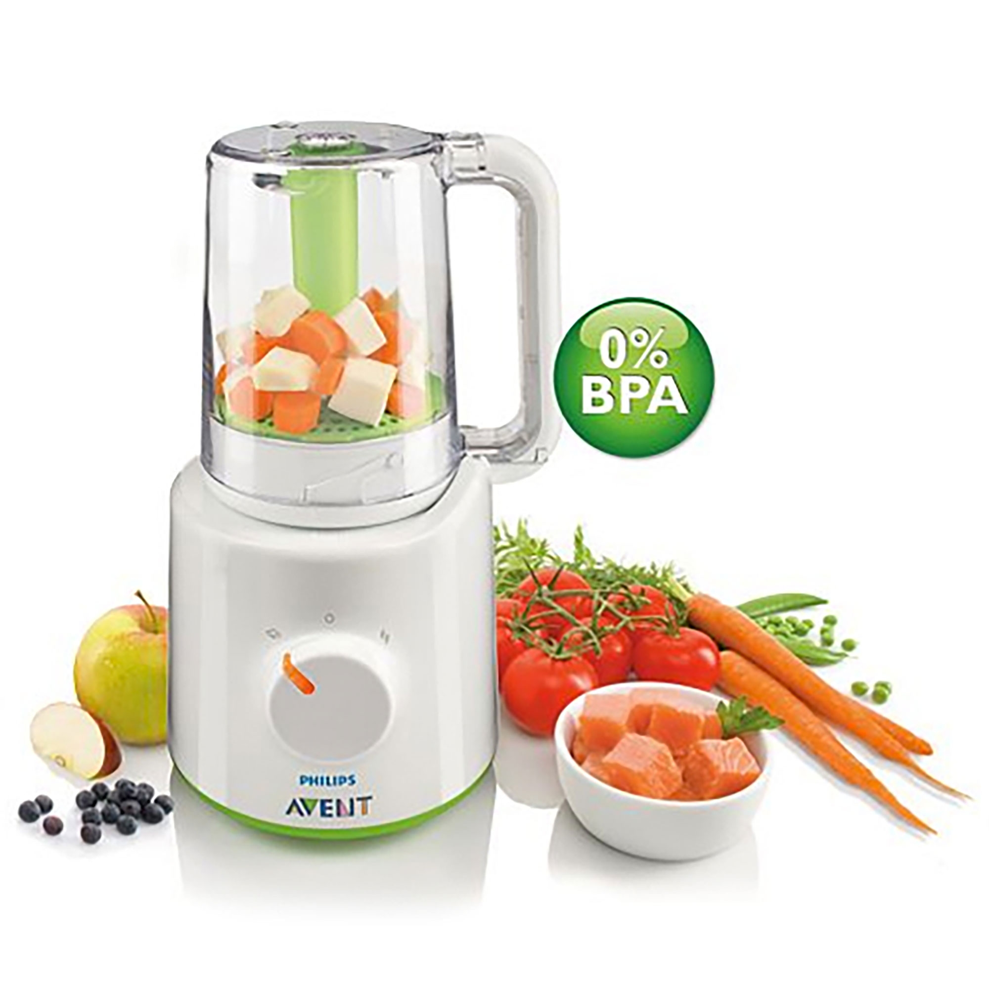 Details About Avent Baby Food Steam Blender 2 In 1
