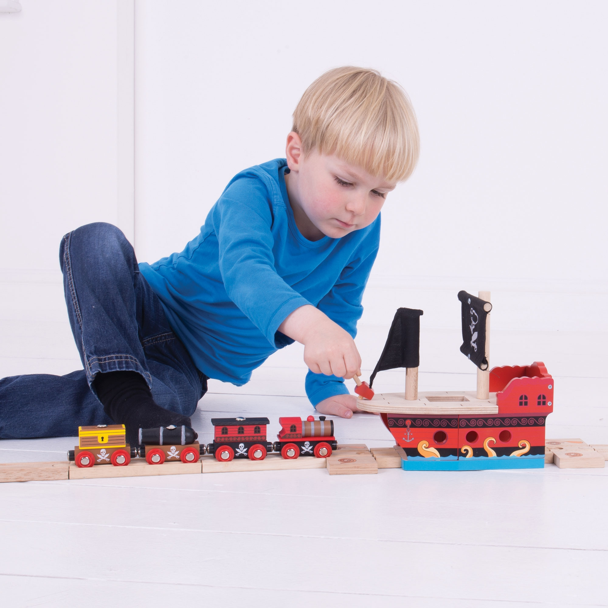 Bigjigs Rail Car Loader Wooden Accessory For Child Toy Train Set
