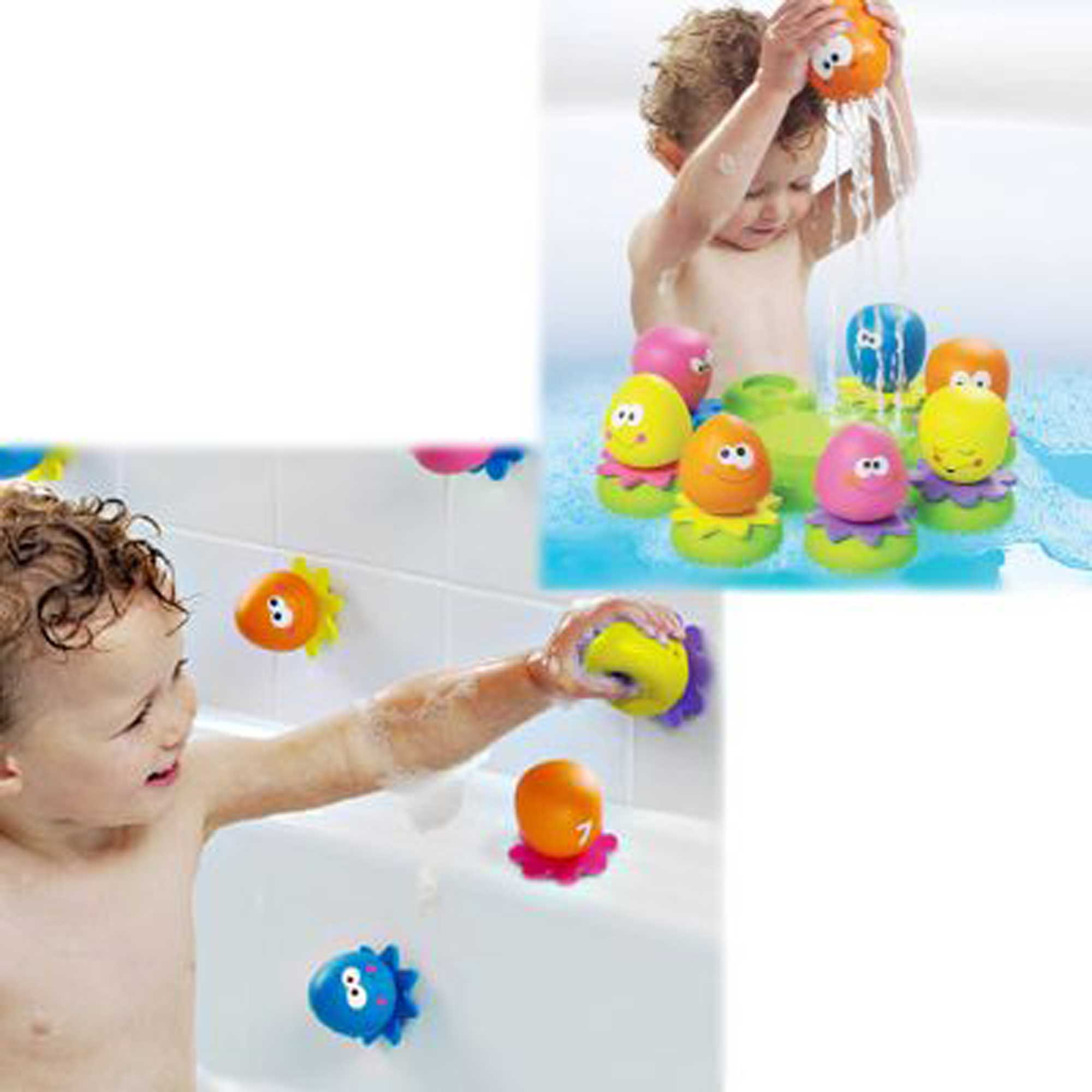 Tomy Toomies Octopals Octopus Sorting Suction Squirters Bath Toy Baby Children