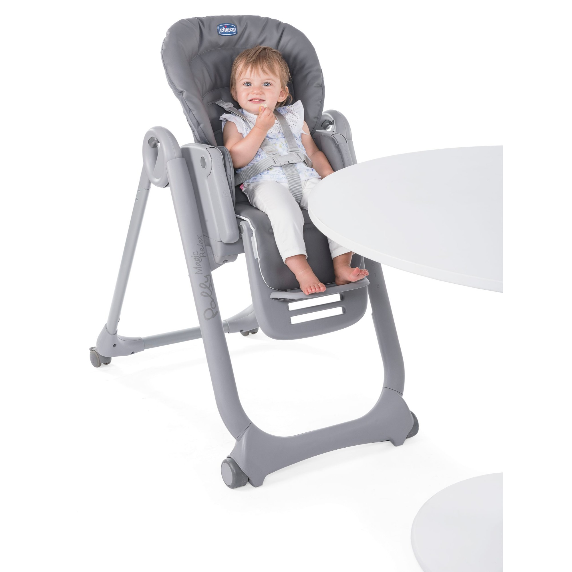 CHICCO ANTHRACITE POLLY PROGRES5 5 IN 1 BABY FEEDING ADJUSTABLE HIGHCHAIR