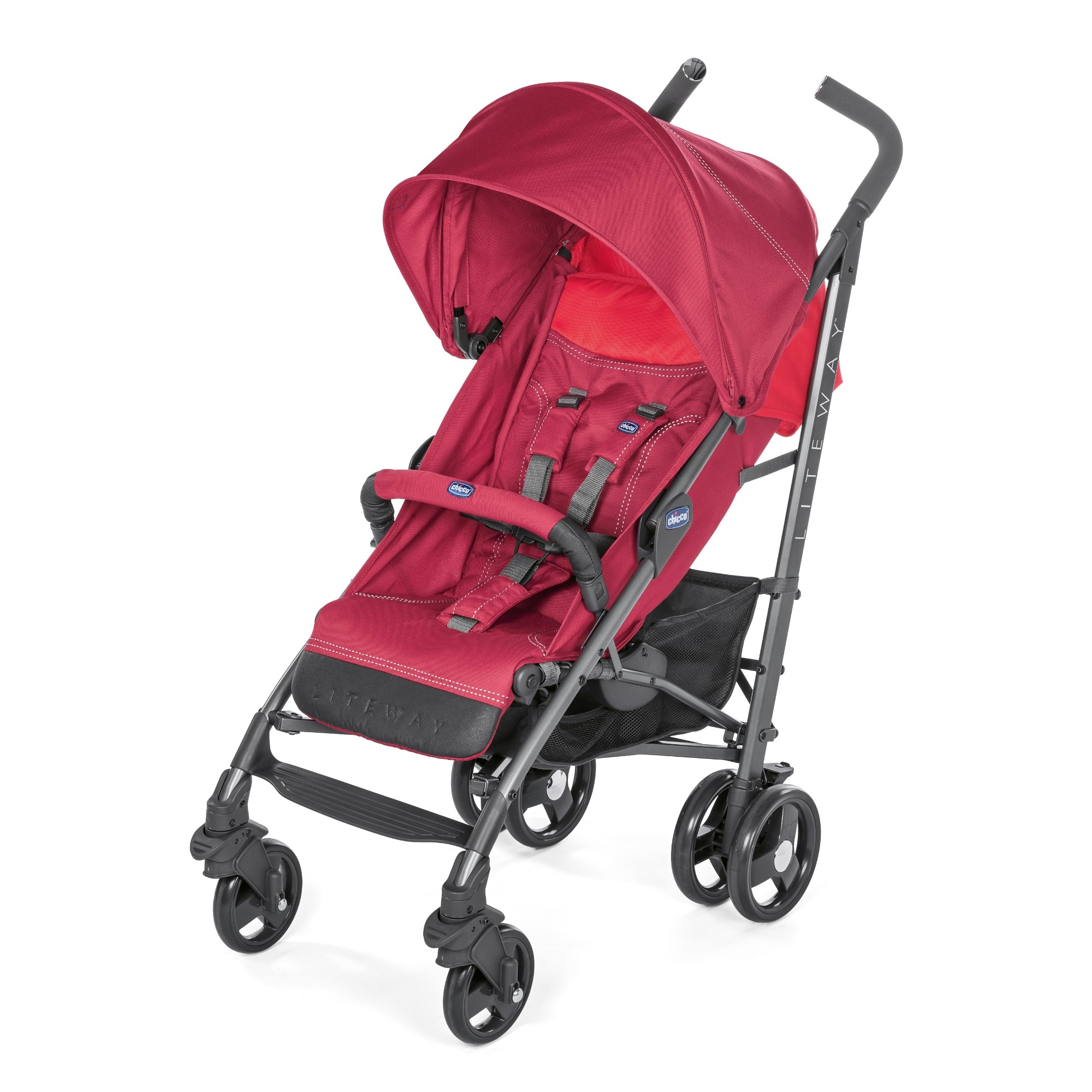 Red Berry Child Kids Pram Stroller Pushchair Chicco LiteWay 3 Baby