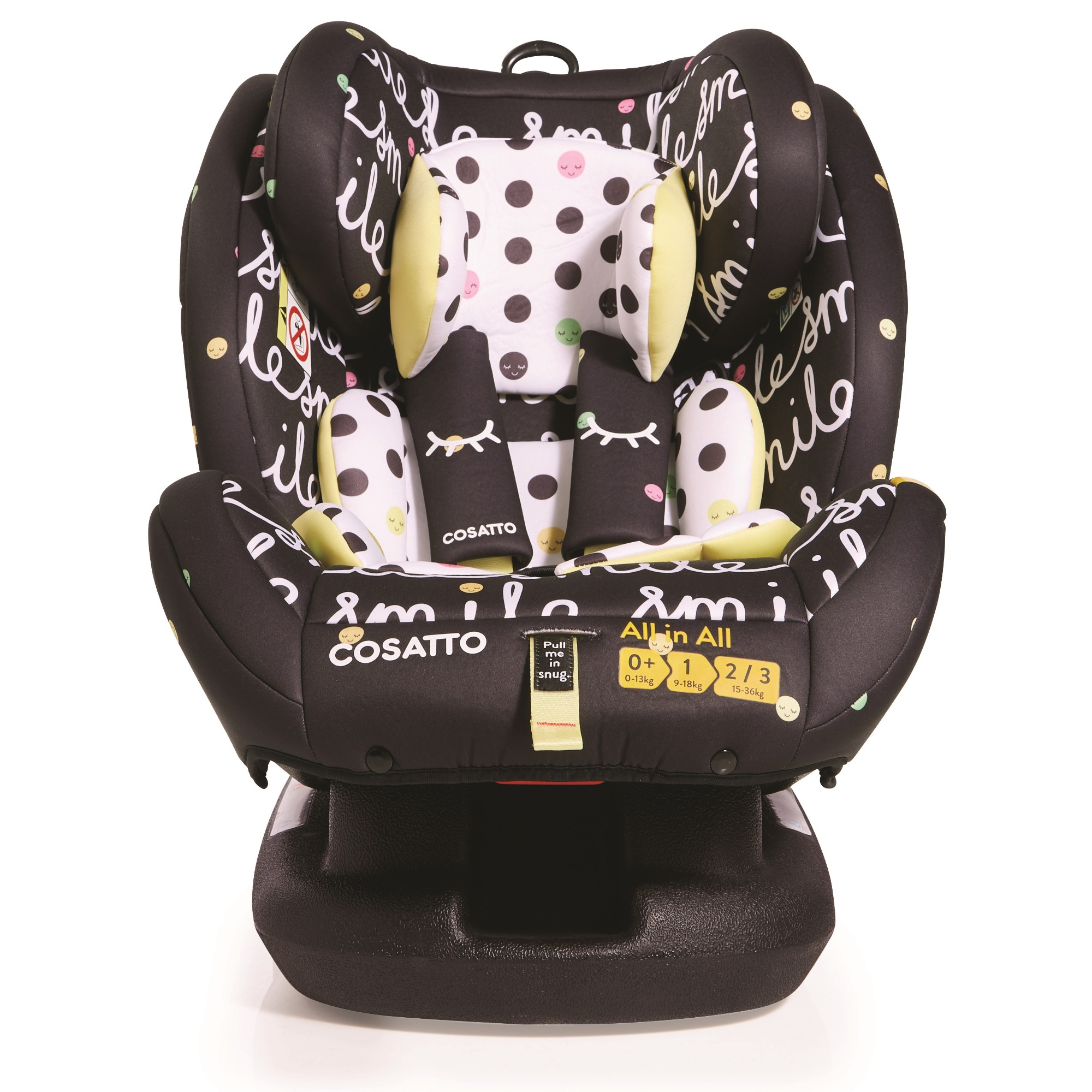 Smile Cosatto All in All Group 0+1//2//3 Isofix Baby Kids Car Seat Child