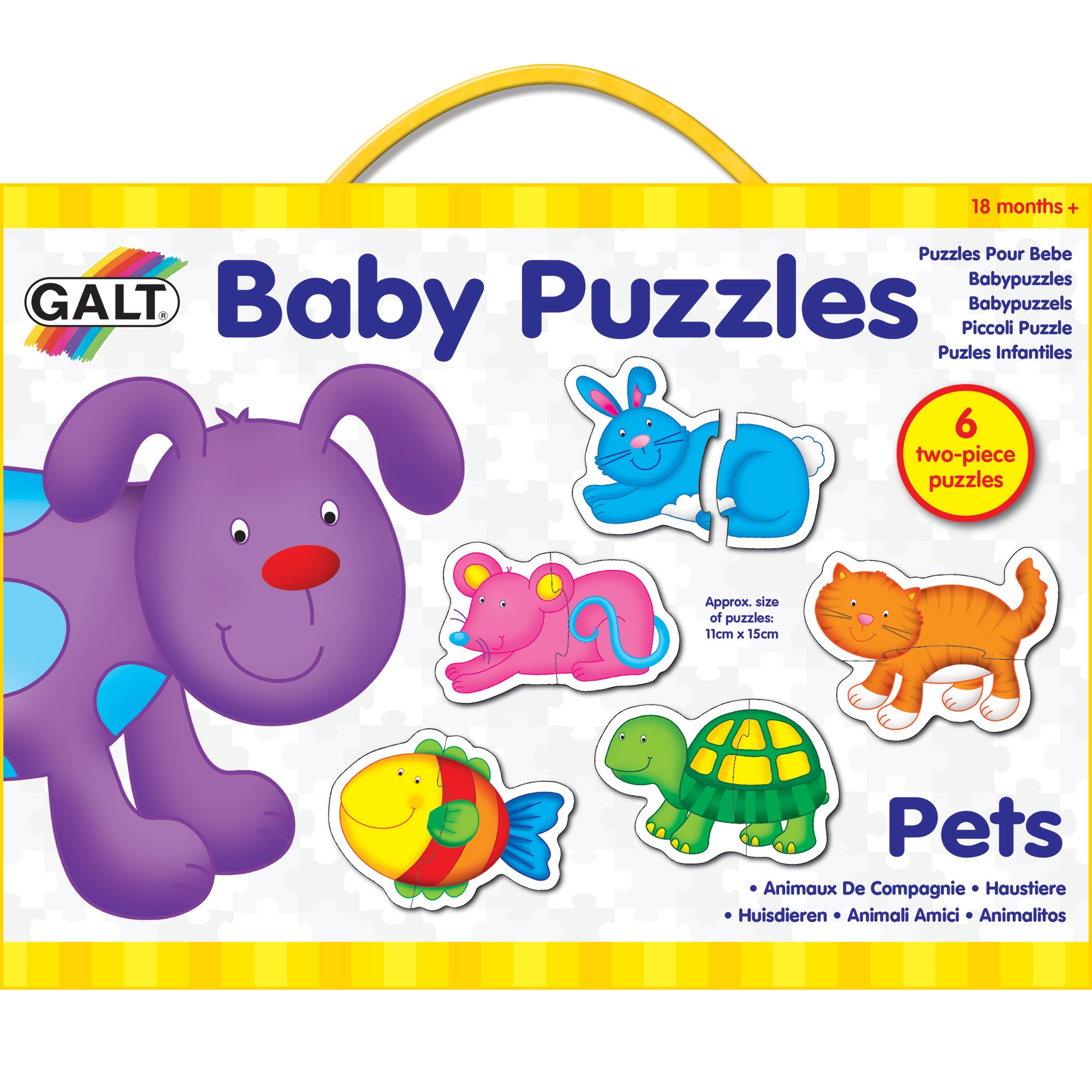 GALT Toys Baby Child Kids Two-Piece Matching Activity Play Puzzle Farm