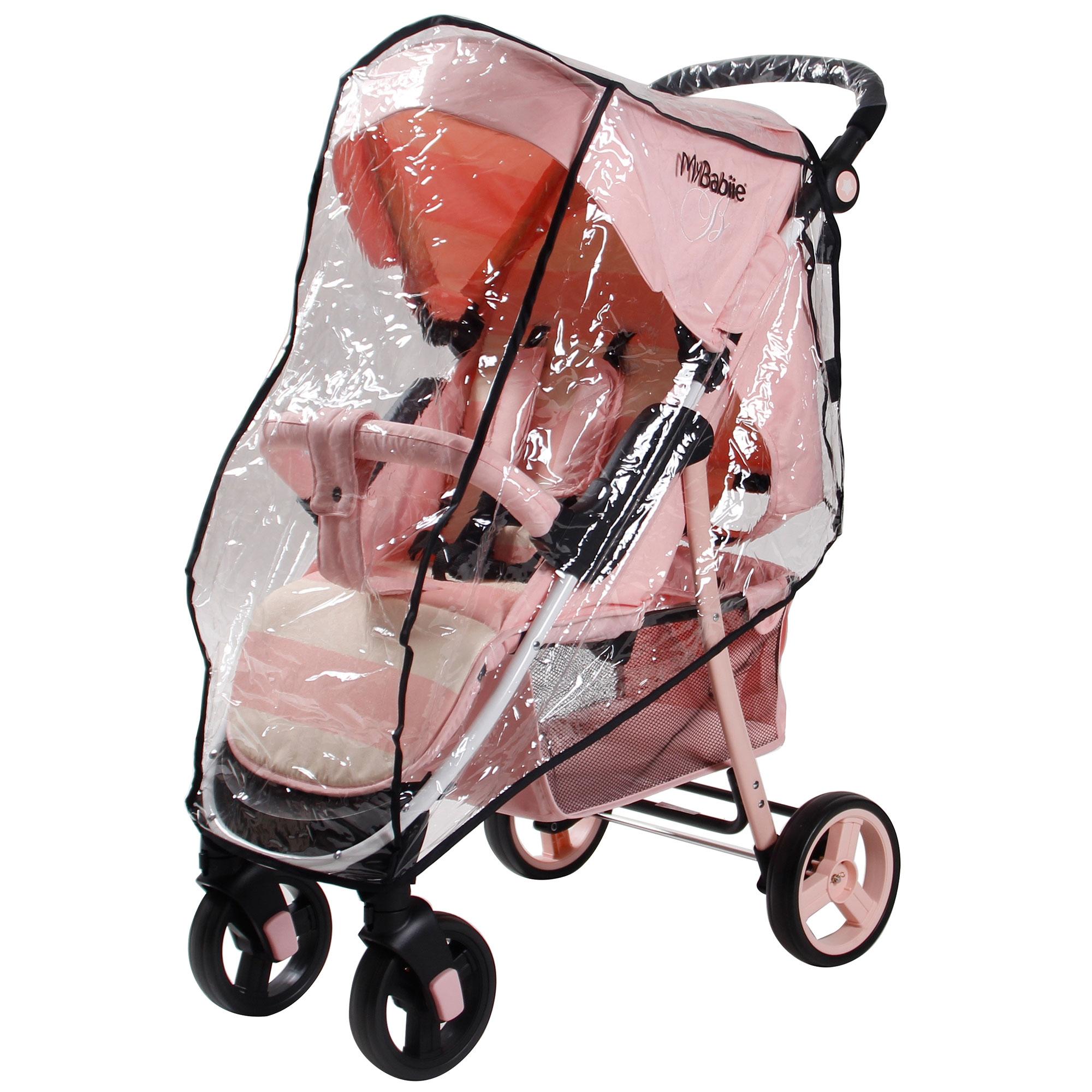 Mon babiie MB30 de la naissance Bébé Poussette//Landau-Billie Faiers rayures rose
