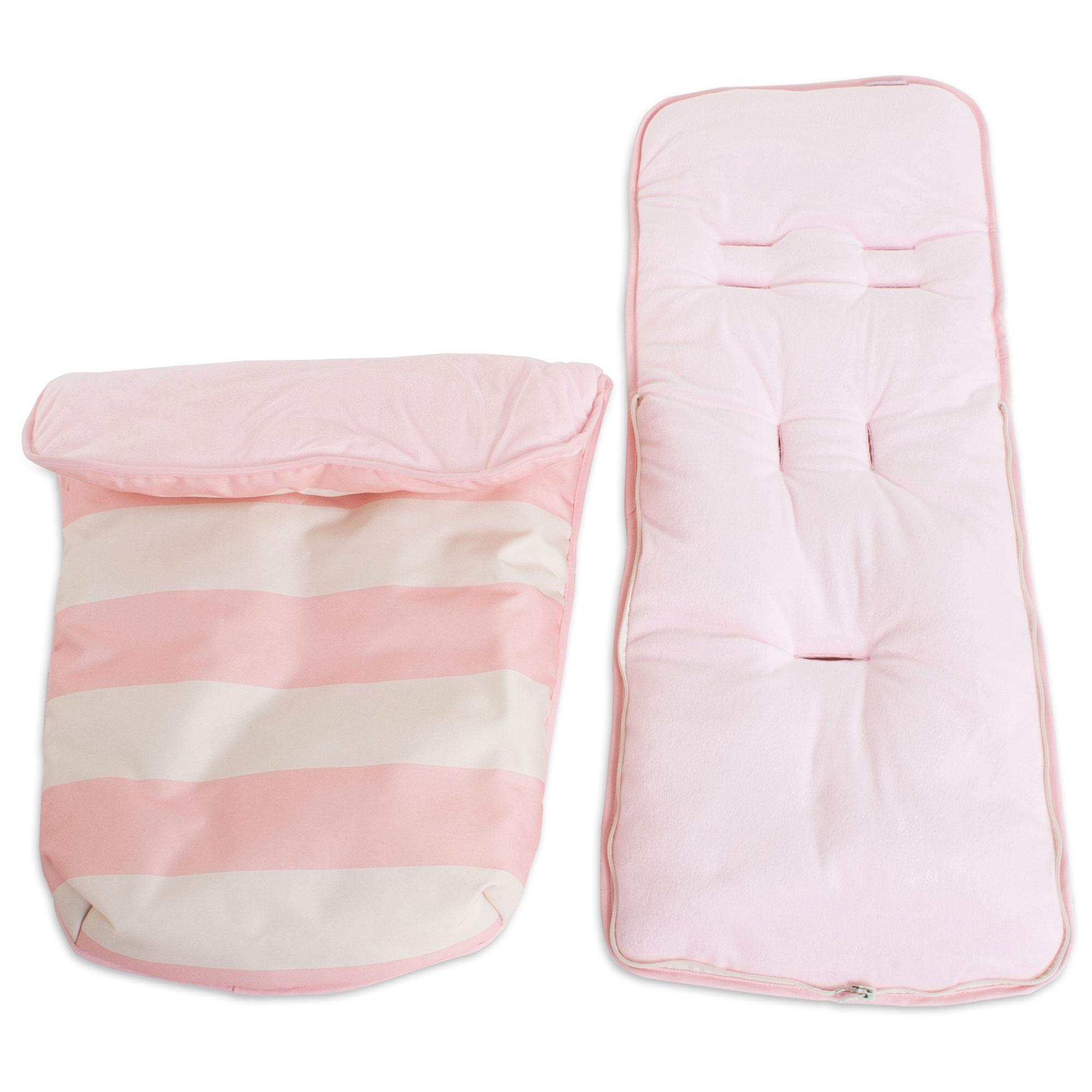 Pushchair Footmuff My Babiie Cosytoes Baby Pram Stroller Pink Stripes